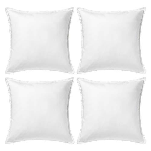 Ikea Gurli - Funda para cojín de color blanco, de 50 cmx 50cm, Pack de 4
