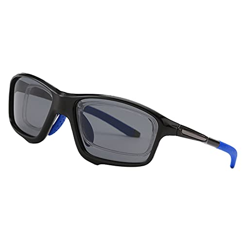 YHNY Gafas Deportivas para jóvenes HD Visión de Montar al Aire Libre Gafas Soft Silicone Frame Incorporado Myopia Blue