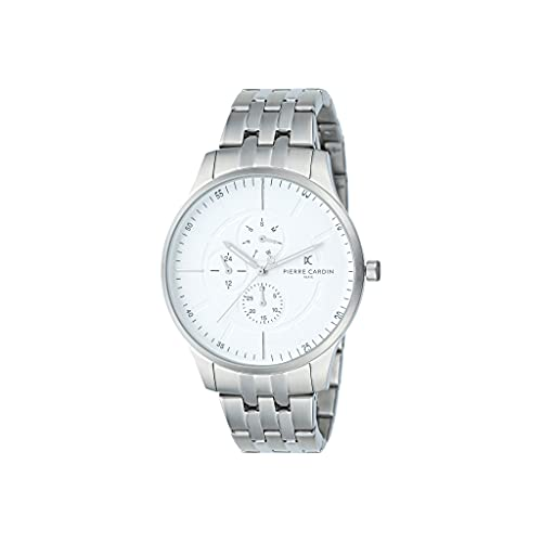 Pierre Cardin A.PC902731F104 - Reloj de pulsera para hombre (cuarzo, acero inoxidable, correa de acero inoxidable)