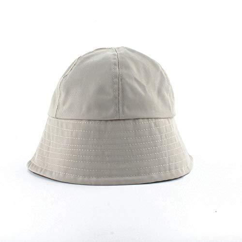 QND,Sombrero,Sombreros de Sol para Mujer Sombrero de Cubo Negro Plegable en Forma de Campana Sombrero de Pescador Gorra de Cubo Informal de Moda, Beige