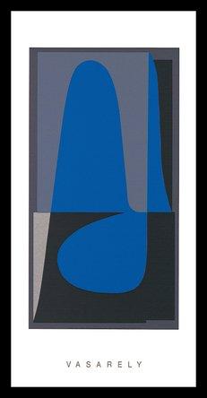 Germanposters Victor Vasarely Donan 2 Poster Kunstdruck Siebdruck Bild im Alu Rahmen in schwarz 100x50cm