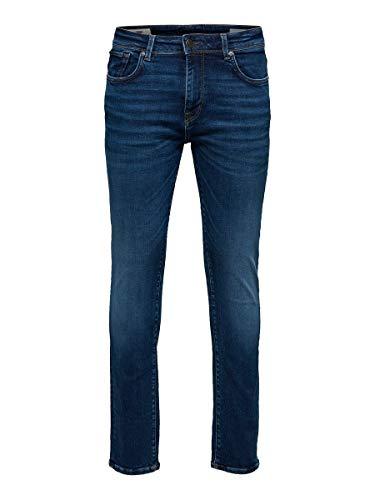 SELECTED HOMME Herren Slhslim-leon 6212 Mblue Su-st Jns W Noos Jeans, Medium Blue Denim, 31W 32L EU