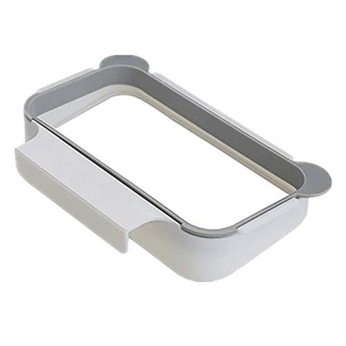 Mdsfe Plastic hangende keukenkast, deur-afvalplank, plank voor vuilniszak, ondersteuning, framehouder, comfortabele tassen, plank organizer a166 White-A6A166