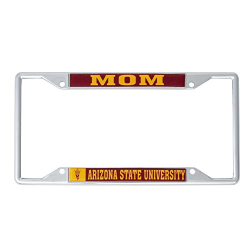 Desert Cactus Arizona State University Metal License Plate Frame for Front Back of Car Officially Licensed (Mom)