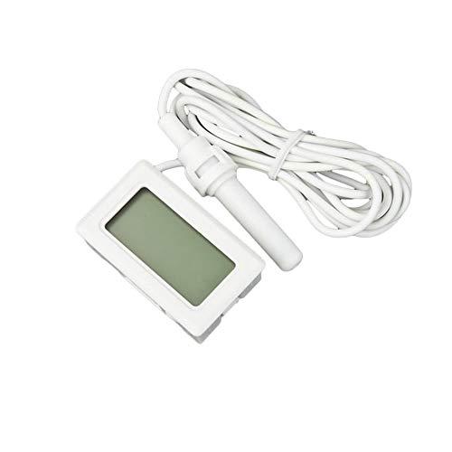 Ndier Medidor de humedad digital con pantalla LCD y termómetro e higrómetro con 2 pilas LR44 para jardinería