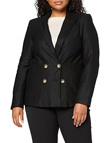 Marchio Amazon - find. Blazer di Lino Donna, Nero (Black), 46, Label: L