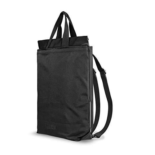 Artwizz Eco BackPack (2019) - Nachhaltiger 2-in-1 Rucksack aus 100% recyceltem Material, 22 Liter, Laptopfach passend für MacBooks Notebooks bis 15 Zoll, Schwarz