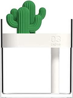 Gpzj Night Light 160ml Ultrasonic USB Powered Light Home Car Desk Clear Cactus Air Humidifier 1#