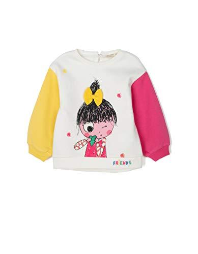 ZIPPY Baby Girls' Sudadera para Bebé Niña Ss20 Sweatshirt, Cloud Dancer 114201 Tc, 1824M