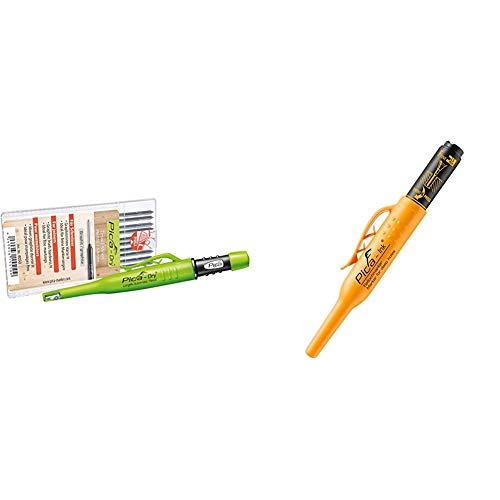Pica Marker Dry Longlife Automatic Pen 3030 + 10 St. Graphit-Mine 4050, Ersatzminen, Härte H & Pyca Tieflochmarker Pica Ink, schwarz, 150/46
