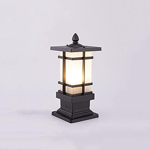 Vidrio esmerilado Impermeable Iluminación de jardín Linterna de poste IP54 Accesorio de iluminación de columna de patio al aire libre E27 Lámpara de pilar de porche de terraza a prueba de lluvia Farol