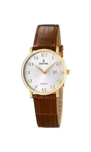 Festina Damen Analog Quarz Uhr mit Leder Armband F16479/2
