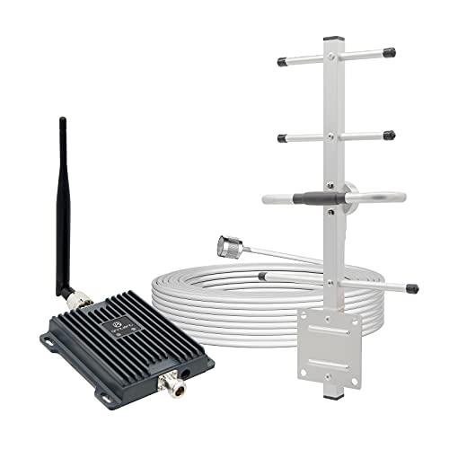 ANNTLENT Handy-Signalverstärker 4G LTE Mobilfunk-Repeater 4G 800MHz Band 20 GSM 900MHz Band 8 Signalverstärker-Internet Booster für E-Plus O2 T-Mobile Vodafone Anzug für den Einsatz im Zuhause/Büro