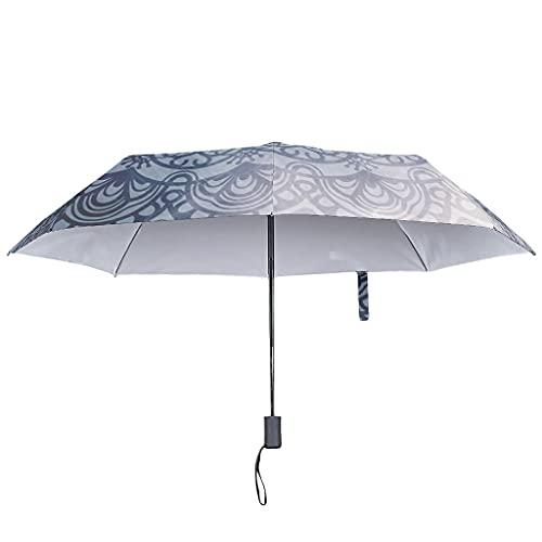 Parasol mágico, apertura y cierre automático, romanticismo, resistente al viento y al agua, con carcasa impermeable