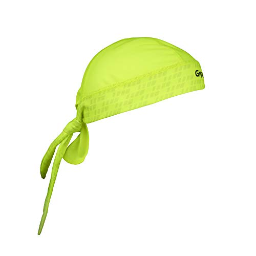 GripGrab Bandana - Protezione dai raggi UV Sottocasco estivo Ciclismo Copricapo bici mtb Fascia antisudore traspirante, Giallo Neon, Taglia unica