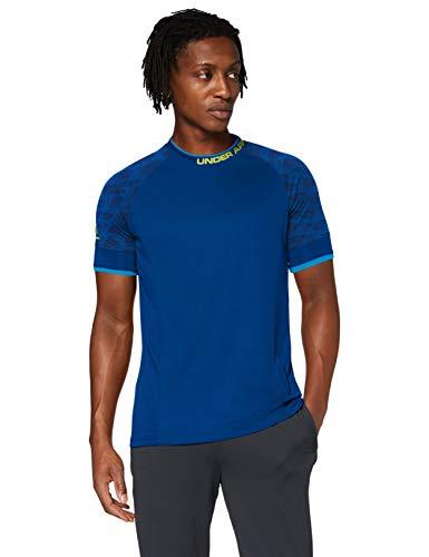 Under Armour Herren Sportliches Und Leichtes T-Shirt Mit Anti-Odor Technologie, Graphite Blue/Yellow Ray (581), MD, 1343916-581