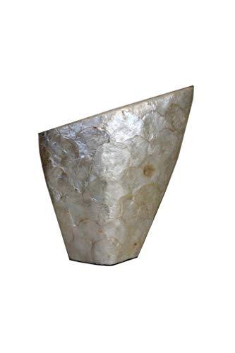 Cvc srl - Vase zum Blumenaufhängen aus Keramik Perlmutt glänzend 34 x 10 x 38 cm - Gastgeschenk für Zuhause, Hochzeit, Kommunion, Konfirmation