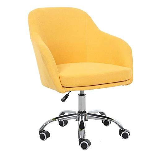 W-xiao stool Silla de ordenador elevable, giratoria, para el hogar, altura ajustable, reposabrazos fijos, mesa de comedor de poliuretano antideslizante y silla de oficina (multicolor opcional)