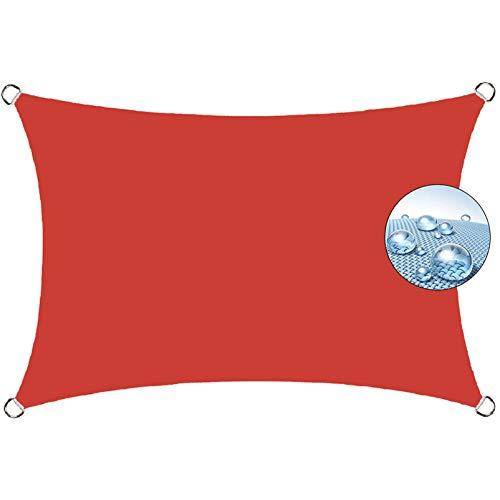 Aibingbao Toldo Vela con Forma 2x2m Resistente y Transpirable, Toldos IKEA Impermeable, para Exteriores, jardín, Rojo