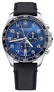 Reloj VICTORINOX V241929 Correa Piel Negra MAQUINARIA Suiza