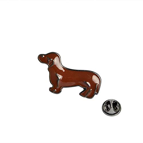 JTXZD Brosche   Puppy Dog Beagle Dachshund Schäferhund Sharpei Labrador Brosche auf Pins Jeansjacke Pin Badge Cartoon