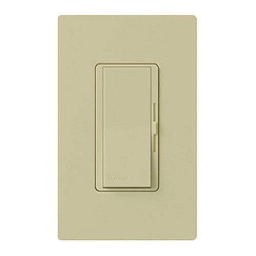 Lutron Diva LED+ Dimmer for Dimmable LED, Halogen and Incandescent Bulbs with Wallplate | Single-Pole or 3-Way | DVWCL-153PH-IV | Ivory