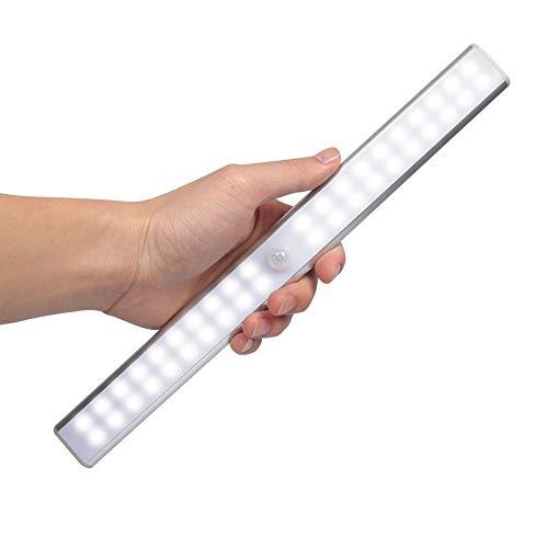 Schrank-Lichtleiste, PIR-Bewegungssensor, wiederaufladbar, LED, Schrank, unter magnetischer Anziehung, Aluminium-Legierung, batteriebetrieben, automatisch, energiesparend