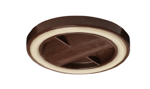 Slipstick CB845 3-1/4 Inch Bed Roller / Furniture Wheel Gripper Caster Cups (Set of 4) Chocolate Brown Color
