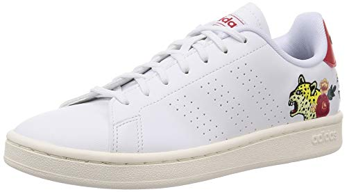 Adidas Advantage, Zapatillas De Tenis Mujer, Ftwr White/Ftwr White/Scarlet, 38 Eu