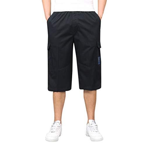 TEBAISE Herren 3/4 Cargo Shorts Bermuda Shorts Multi Tasche Army Sommer Kurze Shorts Freizeithose Sportshorts Caprihose Herren Chino Shorts Lässig Mit Dehnbund Bis 6XL 2019 Neu Herren Shorts