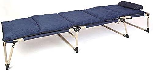 FeliciaWen Abklappbare G e Einzelbetten Matratzen Faltbarer Lounge Chair Verstellbares Rückenkissen (Farbe   Blau, Größe   193  63 30cm)