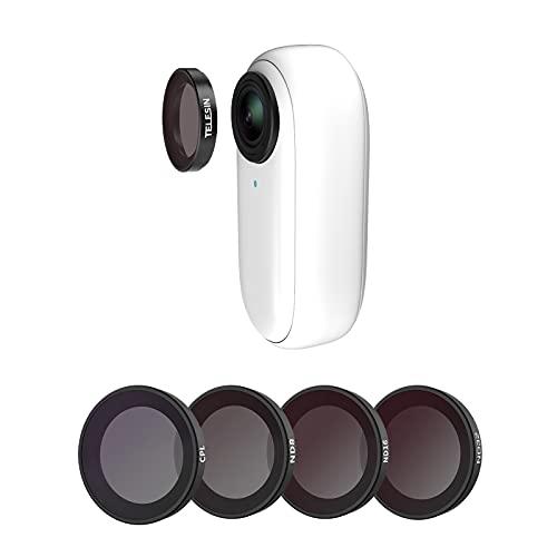 TELESIN CPL ND8 ND16 ND32 Objektivfilter für Insta360 Go2 Kameraobjektiv, Polarisationsfilter, Neutraldichtefilter, Objektivschutz, kompatibel mit Insta360 Zubehörset, 4 Stück