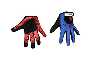 KIDDIMOTO Prime Sale Day Kids Cycling Full Finger Gloves - for Kids Bike Balance Bike Scooter  Gloves for Girls and Boys    Available in Different Designs  Blue Medium