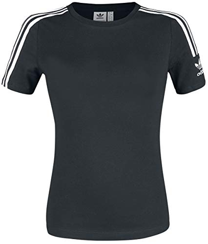 adidas Womens Tight T-Shirt, Black/White, 36
