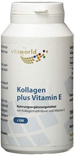 Vita World Kollagen 500mg + Vitamin E 24mg 100 Kapseln Apotheken Herstellung