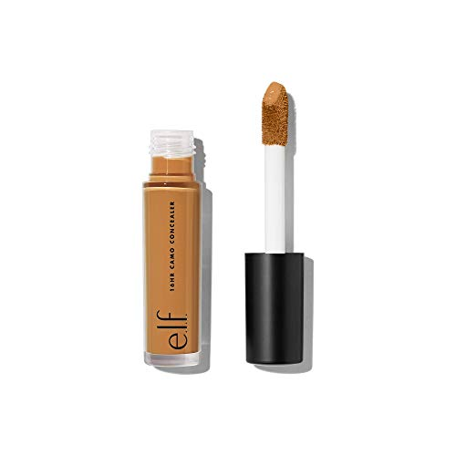 e.l.f. 16HR Camo Concealer, Full Coverage & Highly Pigmented, Matte Finish, Deep Chestnut, 0.203 Fl Oz (6mL)