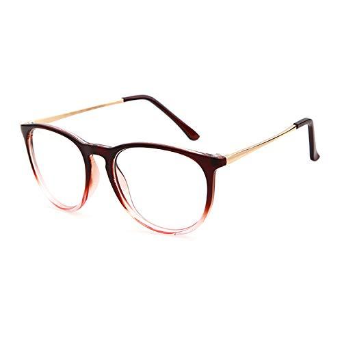 GIFIORE Klassische Runde Nerd Brille Blaulichtfilter Computerbrille Ohne Stärke Brillenfassung für Damen Herren