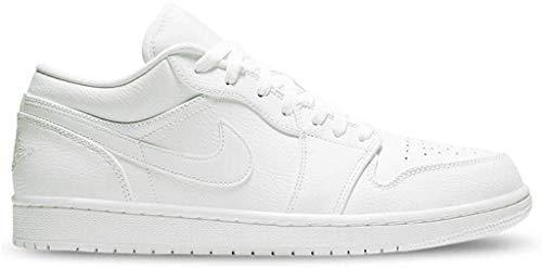 Nike Air Jordan 1 Low, Zapatillas de Gimnasio para Hombre, Blanco, 52.5 EU