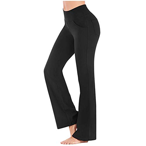 SUMTTER Yogahosen Damen Sporthose lang Jazzpants Frauen Jogginghose mit Taschen Trainingshose Fitnesshose