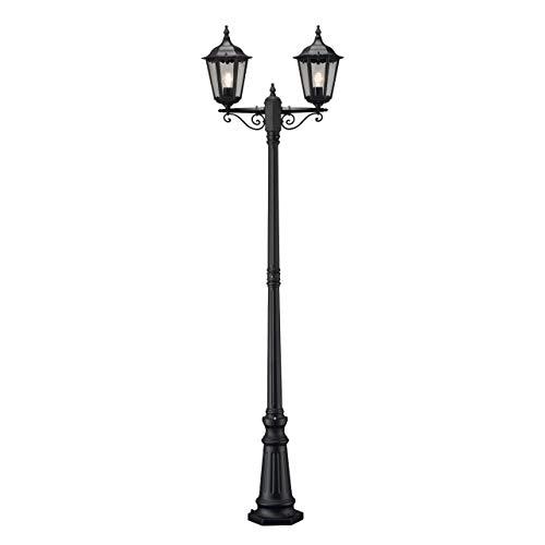 Konstsmide Firenze 7234-750 staande lamp/B: 25 cm D: 63 cm H: 220 cm / 2x100 W / IP43 / gelakt aluminium/matzwart