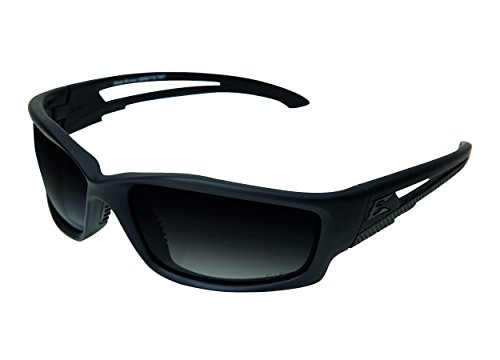 Edgeware Edge Tactical Safety Eyewear Blade Runner Lunettes de protection pour adulte avec revêtement anti-rayures, polarisant, Gradient Smoke, multicolore, taille unique
