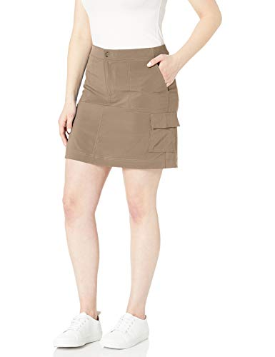 Riders by Lee Indigo Women's Performance Skort with Knit Waist, Khaki, 6
