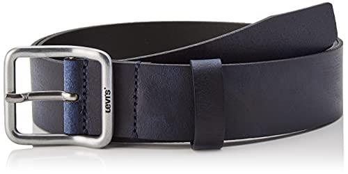 Levi's Utility Leather Belt OV Cintura, Navy Blue, 90 cm Men's