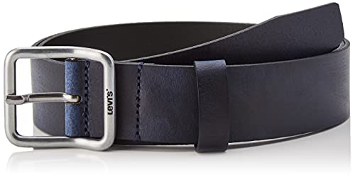 Levi's Utility Leather Belt OV Cintura, Navy Blue, 95 cm Men's