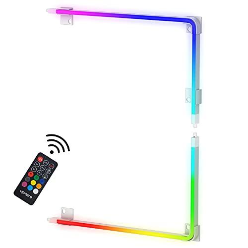 upHere Striscia LED RGB per PC per Illuminazione PC con Telecomando 5V 3Pin Connettori LED ARGB per ASUS Aura SYNC, Gigabyte RGB Fusion, Scheda Madre MSI Mystic Light SYNC,RF40-2