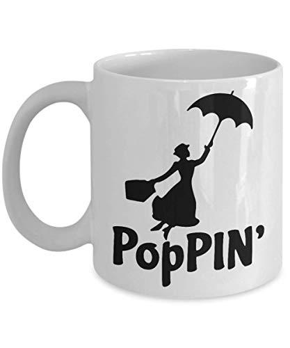 N\A Taza de café de Mary Poppins, Divertida, Taza, té, Regalo para Navidad, día del Padre, Navidad, papá, Aniversario, día de la Madre, papá, corazón, Santa