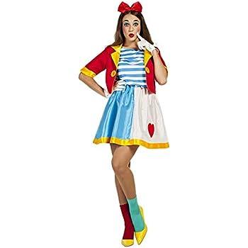 Disfraz de Payasa de Circo para mujer: Amazon.es: Juguetes y juegos