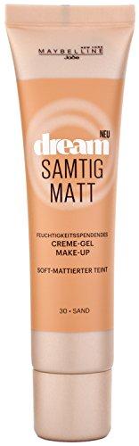 Maybelline New York Dream Samtig Matt Creme-Gel Make-Up Sand 30 / Schminke in einem Hautfarben-Ton, für eine langanhaltende Abdeckung und einen frischen Look, 1 x 30 ml