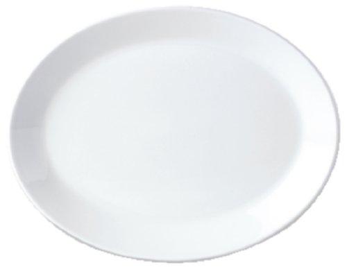Steelite V0026 Simplicité Plat Coupe Ovale, Blanc (lot de 24)