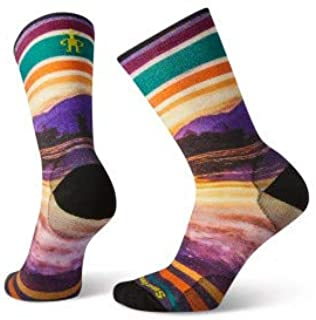 Smartwool Men's Curated Twilight Reflection Crew Multi Color Large Mens